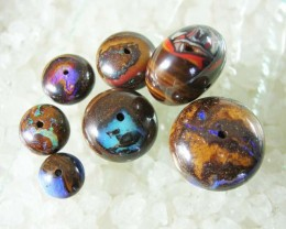 7 colored beads