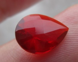 Rose Bud cut Faceted Fire Mexican Opal 1.75 Carats.