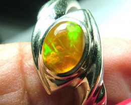 ETHIOPIAN OPAL SILVER RING 29.46 CTS SIZE-8.5 AS-A3375