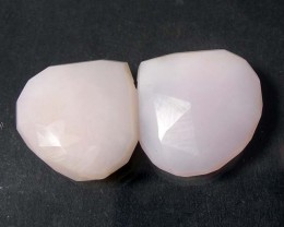 PERU PINK OPAL FACET WIDE BRIOLETTE BEADS (PB/90)