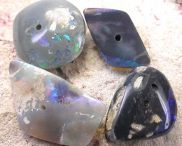 OPAL BEADS  FROM LIGHTNING RIDGE DRILLED 26.50 CTS [MS2798]