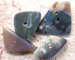 OPAL BEADS  FROM LIGHTNING RIDGE DRILLED 12.25 CTS [MS2800]