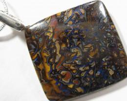 OpalWeb - S/S Chain & Boulder Opal Pendant -  27.95Cts