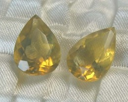 LIGHTNING RIDGE FACETED SUN CRYSTAL OPAL PAIR #LF17/319