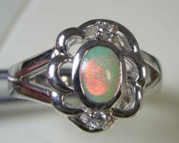 SOLID OPAL 925 SILVER RING SIZE 8 #FR/42