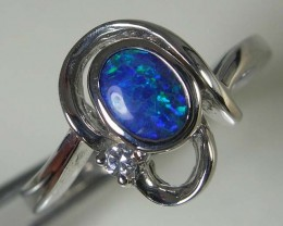 SOLID OPAL 925 SILVER RING SIZE 8.5 #AR/30