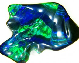 BLACK OPAL -MUSEUM COLLECTOR -HARLEQUIN- CERTIFIED 97.60 CTS