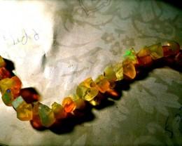 Gawk at my Opals 5/5 Custom Ethiopian Welo  Beaded Bracelet