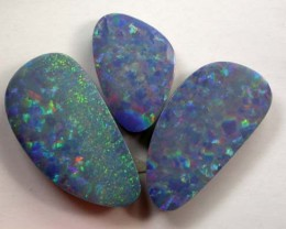 3 Beautiful Opal Doublets (R765) 19.87 cts