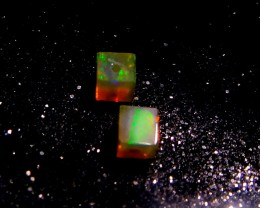 Gawk at my Opals 5/5 Neon Welo Hydrophane Cube Beads AAAA+++