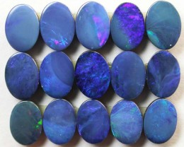 Free shipping! - Opal doublets (R304) 9.28 cts