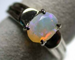 FACETED CRYSTAL OPAL GOLD RING 18K SIZE  6  G273