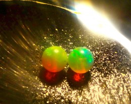 Gawk at my Opals 5/5 Neon Welo Hydro Round Bead Pair AAAA+++