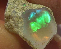12.85ct MARVELLOUS ETHIOPIAN WELLO ROUGH GEM OPAL BRIGHT MULTI FIRE