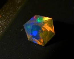 Gawk at my Opals Matt's Custom Faceted Tri Hex Welo Opal 1NR
