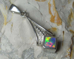 INLAY OPAL 925 SILVER PENDANT #PS71