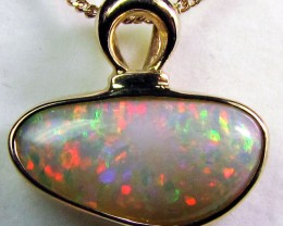 Gold Crystal Opal Pendants