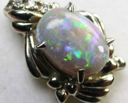 BLACK OPAL  18 K WHITE GOLD  PENDANT  CK 140