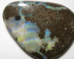 Multicolored Boulder Opal - Drilled.