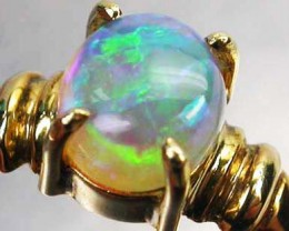 CRYSTAL OPAL RING SIZE5 18 K  GOLD   CK 198