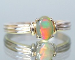 CRYSTYAL OPAL RING SIZE 6.75    18 K  WHITE GOLD   CK 231