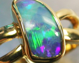 DOUBLET  OPAL RING SIZE 7.5    18 K GOLD   CK 236