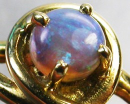 BLACK OPAL RING SIZE 6   18 K  GOLD   CK 241