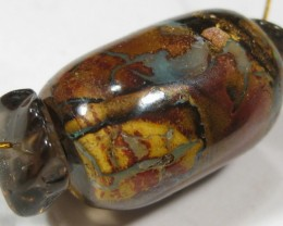 Boulder Opal Barrel Bead Necklace with assorted Beads.