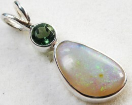 11.50 CTS SOLID OPAL PENDANT SILVER-FACTORY DIRECT [SOJ523]