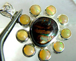 35 CTS  ETHIOPIAN OPAL SILVER PENDANT OF-1741