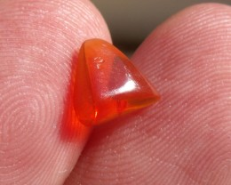 FreeForm carved Mexican Fire Opal 0.78 Carats.