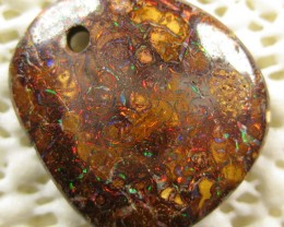 DRILLED WONDERFUL BRIGHT PATTERN MATRIX OPAL,13.90.CTS.CO.