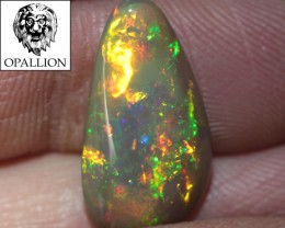 RARE 4.71CT SUPER BRIGHT WELO N3 BLACK CRYSTAL OPAL !