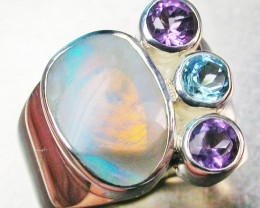 SOLID OPAL/GEMSTONE RING SIZE 5.5 [SOJ680]