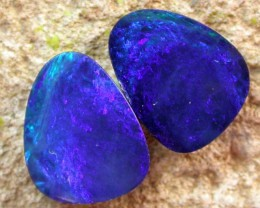 7.05 cts Opal Doublet Pair (R1298)