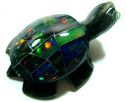 MEXICAN FIRE OPAL TURTLE 15.19 CTS AD-659 (ADO)