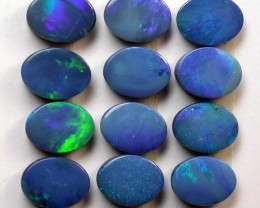9.90 cts Parcel of 12 Beautiful Opal Doublets (R1461)