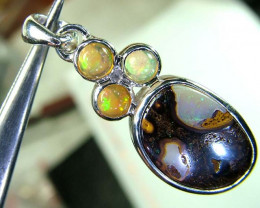 24  CTS ETHIOPIAN OPAL SILVER PENDANT  OF-1735