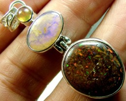 BOULDER YOWAH OPAL  STERLING SILVER PENDANT 23 CTS OF-1737