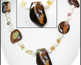 630.95 CTS BOULDER GEMSTONE NECKLACE [SOJ908]