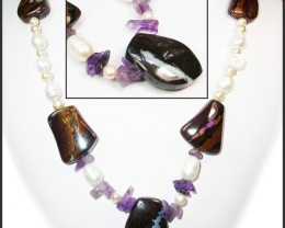 646.20 CTS BOULDER GEMSTONE NECKLACE [SOJ909]