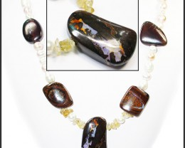 641.60 CTS BOULDER GEMSTONE NECKLACE [SOJ912]