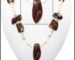 699.60 CTS BOULDER GEMSTONE NECKLACE [SOJ914]