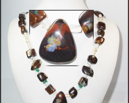 623.15 CTS BOULDER GEMSTONE NECKLACE [SOJ921]