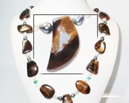 739.10 CTS BOULDER GEMSTONE NECKLACE [SOJ922]