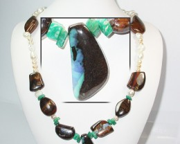 602.55 CTS BOULDER GEMSTONE NECKLACE [SOJ928]