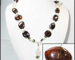 791.05 CTS BOULDER GEMSTONE NECKLACE [SOJ930]