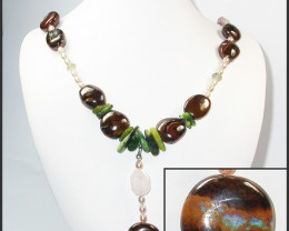 820.90 CTS BOULDER GEMSTONE NECKLACE [SOJ931]