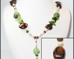 813.00 CTS BOULDER GEMSTONE NECKLACE [SOJ932]