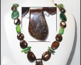 1049.55 CTS BOULDER GEMSTONE NECKLACE [SOJ933]